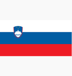 Colored flag of slovenia vector
