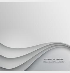 Smooth wavy background design vector