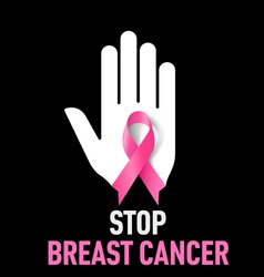 Stop breast cancer sign vector
