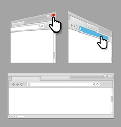 Modern web browser template vector