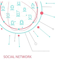 Social media circles network   icon vector