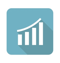 Square financial graph icon vector