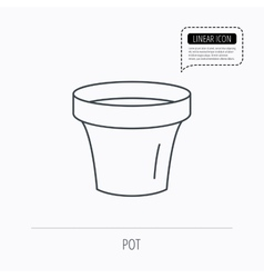 Flower pot icon gardening ceramic container vector