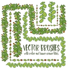 Set of hand drawn pattern brushes vector
