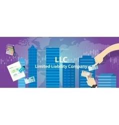 Acronym LLC as limited liability company vector image vector image