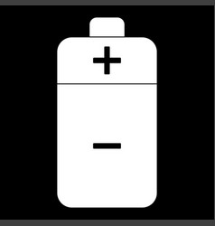 Battery the white color icon vector