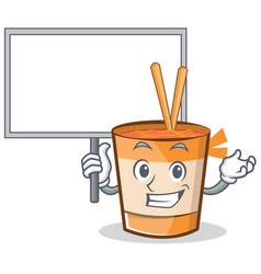 Bring board cup noodles character cartoon vector