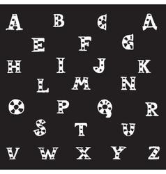 capital letters alphabet vector image