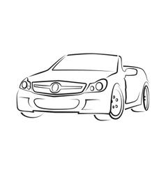 car cabriolet vector image