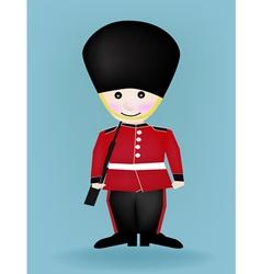 Cartoon a british royal guard vector