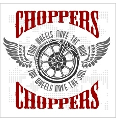Choppers - vintage bikers badge vector