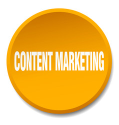Content marketing orange round flat isolated push vector