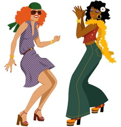 Disco girls vector image