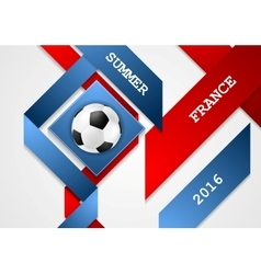 Euro Football Championship in France corporate vector image