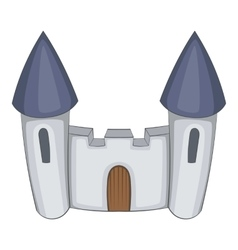 Fortress icon cartoon style vector