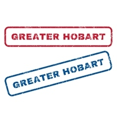 Greater Hobart Rubber Stamps vector image vector image