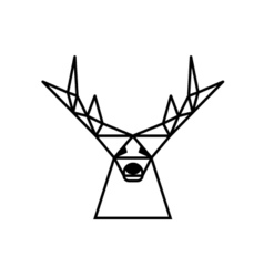 Logo deer vector