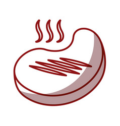 meat beef isolated icon vector image