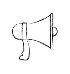 Monochrome blurred silhouette of megaphone vector