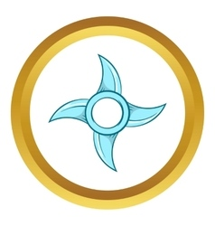 Ninja shuriken star weapon icon vector