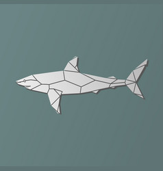 Polygonal geometric grey shark vector