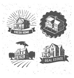 Real estate silhouette logotypes vector