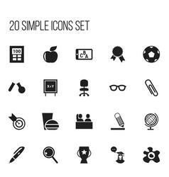 Set of 20 editable teach icons includes symbols vector