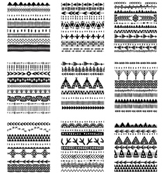 Set of ethnic brushes and patterns vector image vector image