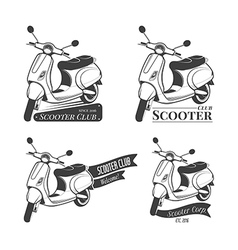 Set of scooter logos vector image