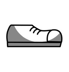silhouette fashin man shoes style vector image