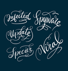 spyware and viral typography vector image vector image