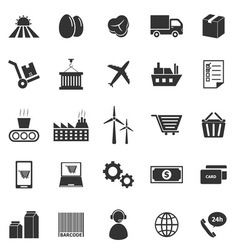 Supply chain icons on white background vector