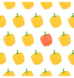 Sweet pepper seamless pattern vector image