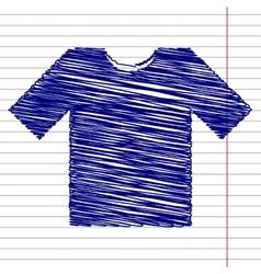 T-shirt sign vector image