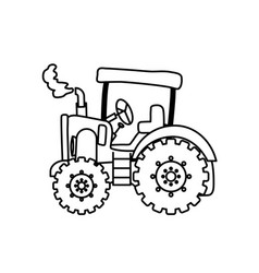 tractor farm machinery vector image