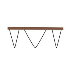 Wood table vector