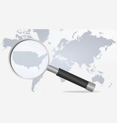 world map usa vector image vector image