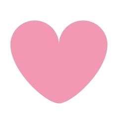 pink cartoon heart icon vector image