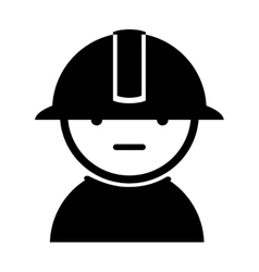 Silhouette employee worker design isolated vector