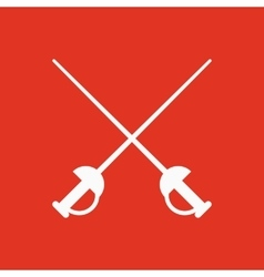 The sword icon epee symbol flat vector