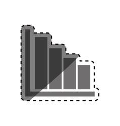 Statistics bars data vector