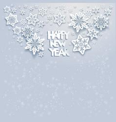winter snow card vector image