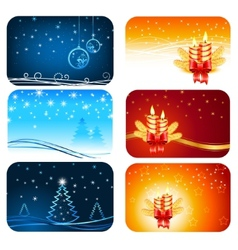 Christmas cards happy new year cards vector