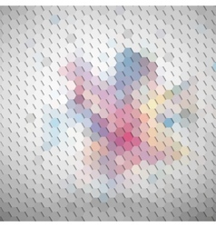 Colorful geometric background abstract hexagonal vector