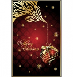 abstract Christmas illustration for design vector image