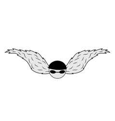 Biker wings vector