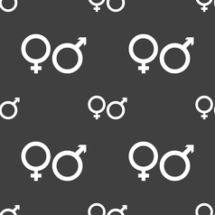 Male and female icon sign seamless pattern on a vector