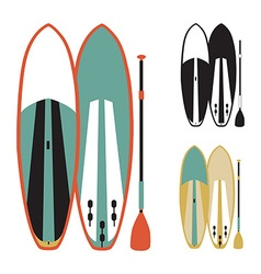 stand up paddle boards vector image