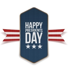 Happy presidents day banner with striped ribbon vector