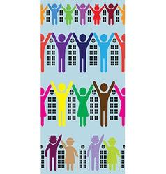 abstract neighbourhood vector image